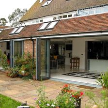Aluminum bi-fold doors to suit all. Various colours and finishes available.