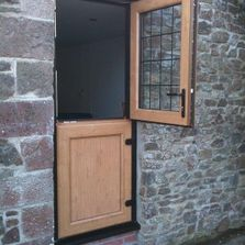 Timber look upvc stable door.